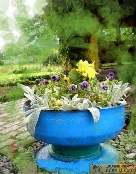 Последний шаг заключается в посадке цветов