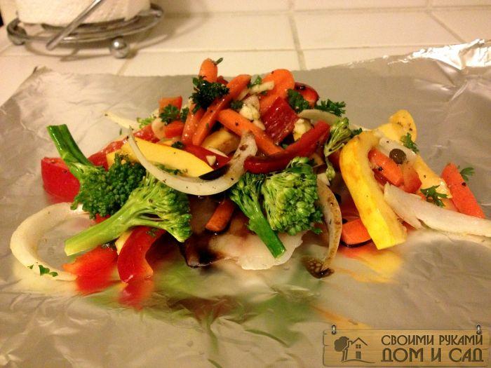 овощи в фольге в дух…