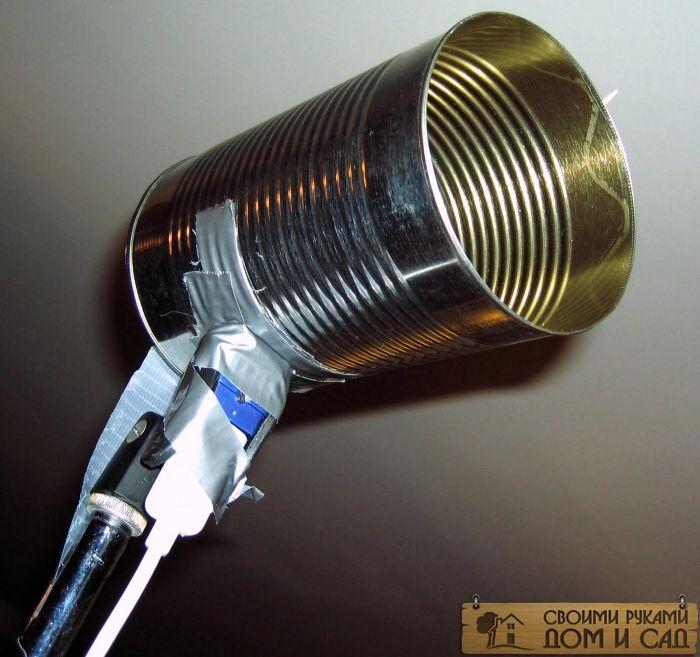 антенна из пивных банок с усилителем