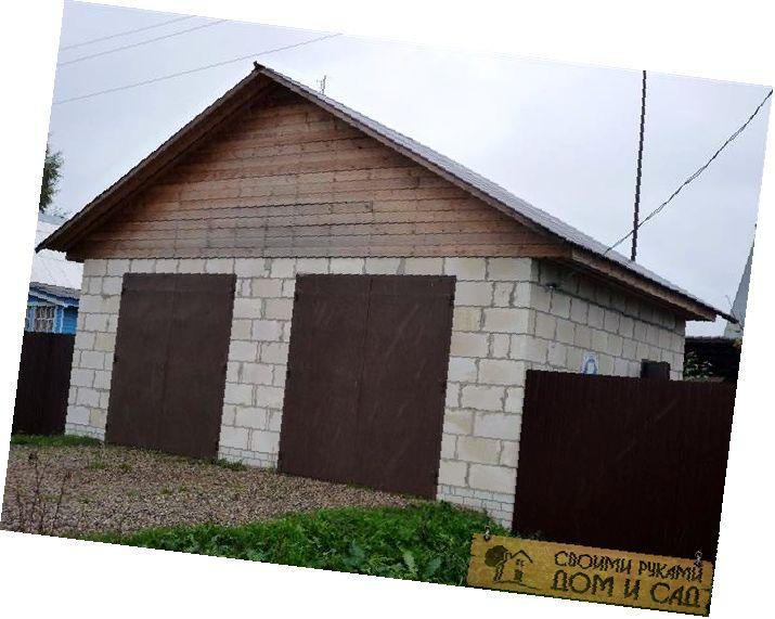 строим гараж из пеноблоков своими руками