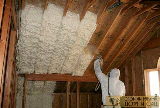 как утеплить крышу …