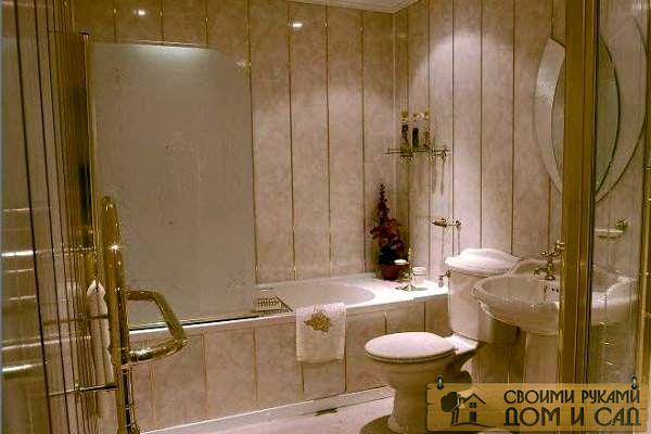 отделка ванной комнаты фальш-панелями
