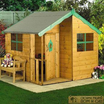 Деревянный домик со …