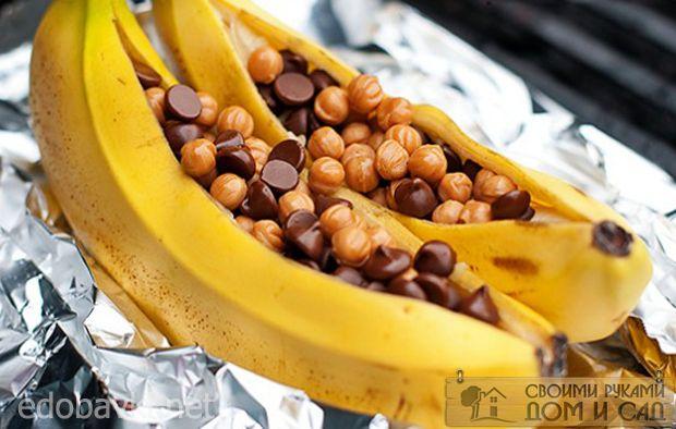 Бананы на гриле с шо…