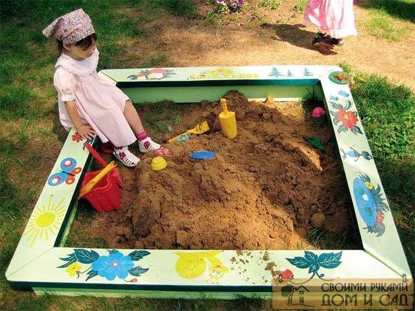 Песочница на даче