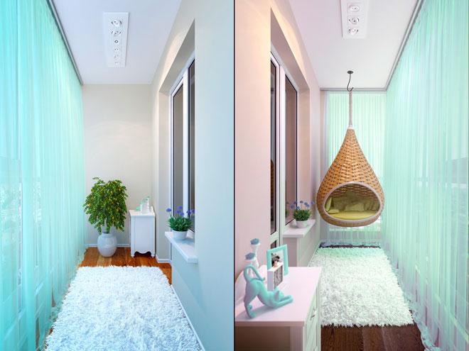 Идеи дизайнов маленьких балконов