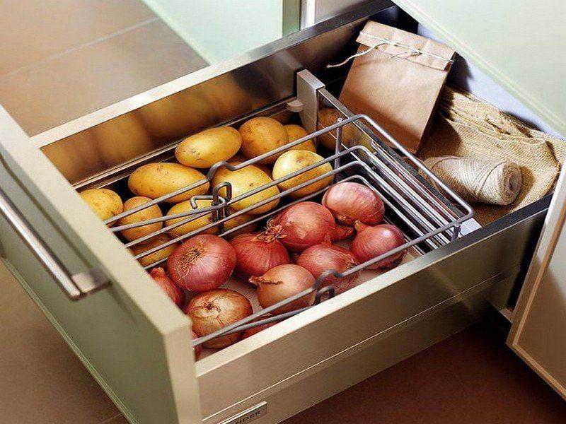 Хранение под мойкой или раковиной на кухне