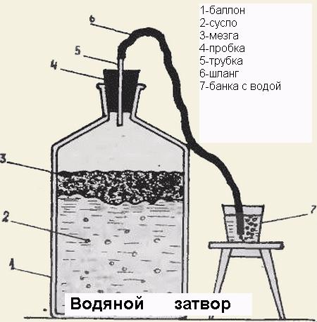 винный гидрозатвор