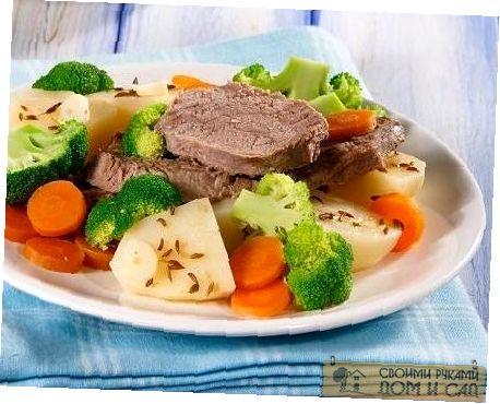 Овощи с мясом на пар…