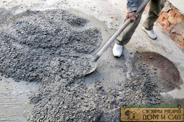 Приготовление цемент…
